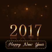 Happy New Year background gold rain Stock Illustration