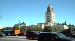 Beverly Hills City Hall Stock Footage