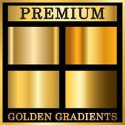 Gold texture square patterns set Stock Illustration