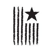 American flag symbol Independence Day celebration Stock Illustration