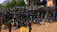 Bicycle for Rent Stock Footage