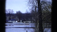 1960: snow playing is seen WAUCONDA, ILLINOIS Stock Footage