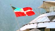 Bahamas civil ensign flag waving on the luxury cruise ship Stock Footage