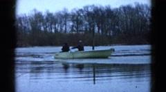 1960: boat is seen WAUCONDA, ILLINOIS Stock Footage