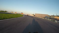 Karting, camera is attached to the helmet Stock Footage