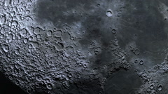 Moon surface craters extreme closeup - absolutely realistic Stock Footage