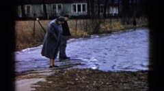 1960: water area is seen WAUCONDA, ILLINOIS Stock Footage