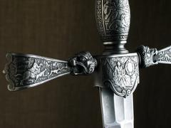 Medieval dagger Stock Photos