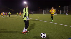 March 2016. Portrait happy British youth soccer team during a training session Stock Footage