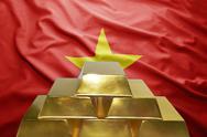 Vietnamese gold reserves Stock Photos