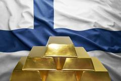 Finnish gold reserves Stock Photos