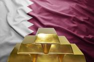 Qatar gold reserves Stock Photos