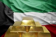 Kuwait gold reserves Stock Photos