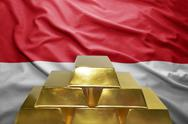 Indonesian gold reserves Stock Photos