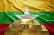 Myanmar gold reserves Stock Photos