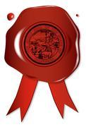 California State Wax Seal Stock Illustration
