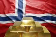 Norwegian gold reserves Stock Photos