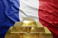 French gold reserves Stock Photos