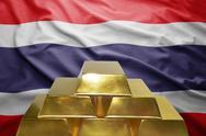 Thailand gold reserves Stock Photos