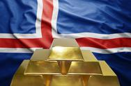 Icelandic gold reserves Stock Photos
