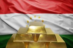 Tajikistan gold reserves Stock Photos