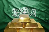 Saudi arabia gold reserves Stock Photos