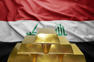 Iraqi gold reserves Stock Photos
