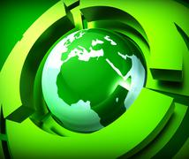 Worldwide Globe Meaning Web Site And Online Stock Illustration