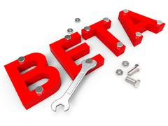 Beta Software Meaning Develop Program And Programming Stock Illustration