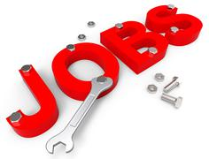 Jobs Word Showing Hire Me And Work Stock Illustration