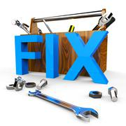 Fix Word Meaning Maintain Repaired And Mended Stock Illustration