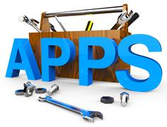 Apps Software Indicating Web Computer And Applications Piirros