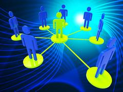 Network Of People Represents Global Communications And Computer Stock Illustration