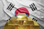 South korea gold reserves Stock Photos