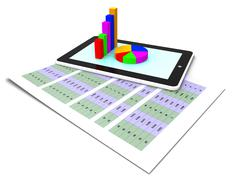 Online Report Representing World Wide Web And Tablet Pc Stock Illustration