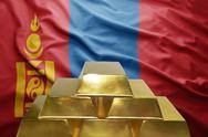 Mongolian gold reserves Stock Photos