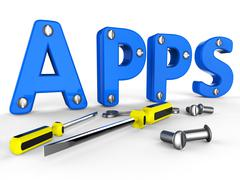 Apps Software Indicating Programs Programming And Softwares Stock Illustration