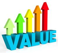 Increase Value Representing Valued Advance And Importance Stock Illustration