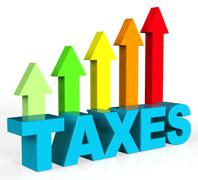 Increase Taxes Representing Raise Duty And Excise Stock Illustration