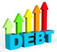 Increase Debt Representing Debts Owing And Liabilities Stock Illustration