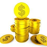 Dollar Savings Indicating American Dollars And Financial Stock Illustration