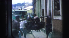 1967: market area beside road area is seen BRAZIL Stock Footage
