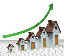 House Prices Increase Showing Return On Investment And Home Expenses Stock Illustration