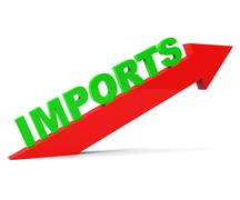 Increase Imports Representing Buy Abroad And Trade Stock Illustration