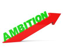 Increase Ambition Meaning Improve Gain And Progress Stock Illustration