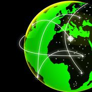Global Network Meaning Server Earth And Planet Stock Illustration