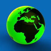 Europe Africa Globe Meaning Global Country And Nation Stock Illustration