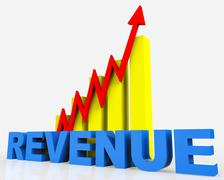 Increase Revenue Meaning Financial Report And Development Stock Illustration