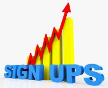 Increase Sign Ups Meaning Progress Report And Upgraded Stock Illustration