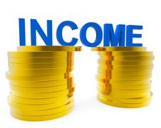 Income Money Indicating Finance Wealthy And Earning Stock Illustration